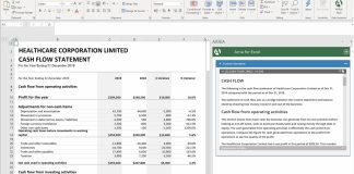 Arria Excel Add-On